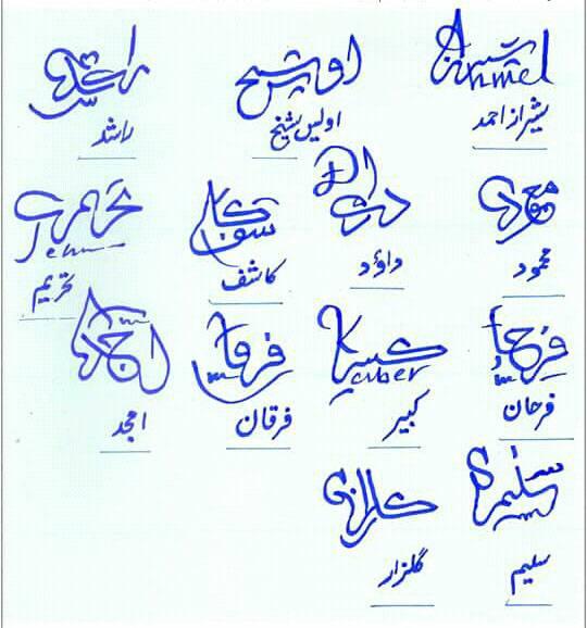 Different Signatures in Urdu 2