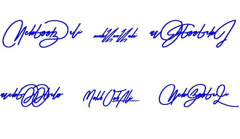 Signatures for Mehboob Ali