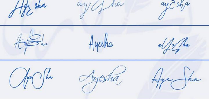 Signatures for Ayesha