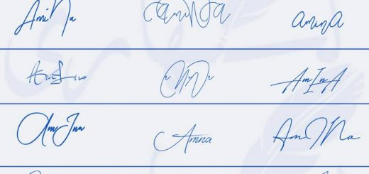 Signatures for Amina