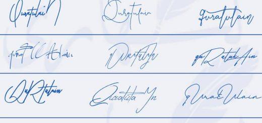 Signatures for Qurat ul Ain