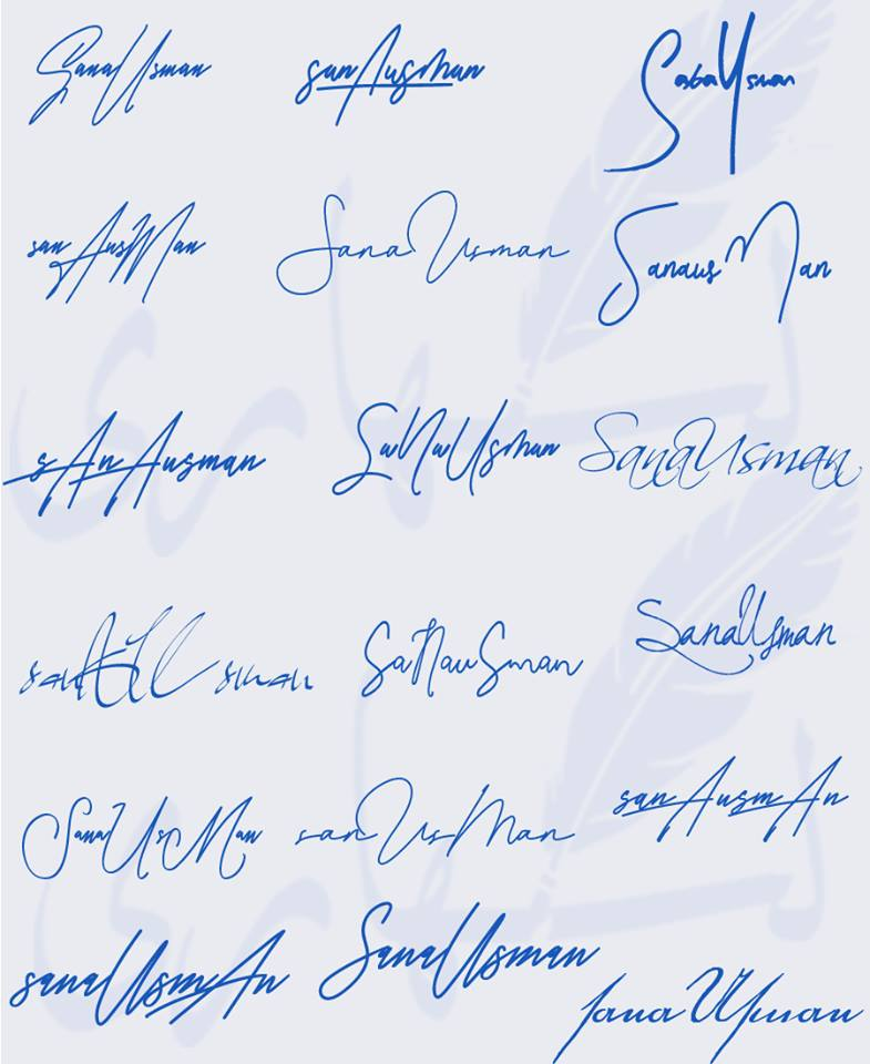 Signatures for Sana Usman