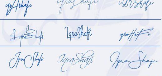 Signatures for Iqra Shafi