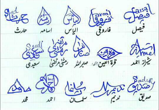 Different Signatures in Urdu