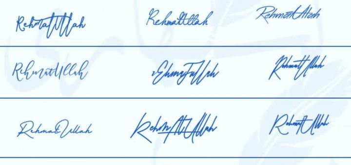 Signatures for Rehmat ullah