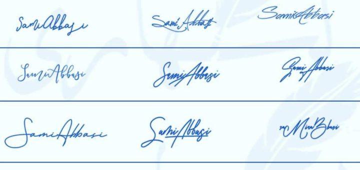 Signatures for Sami Abbasi