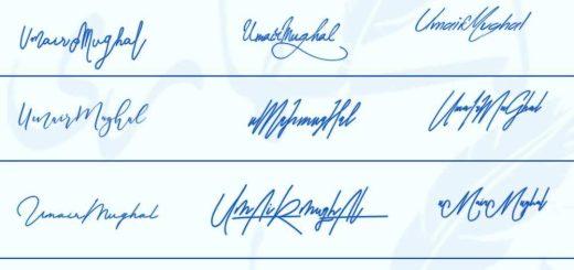 Signatures for Umair Mughal