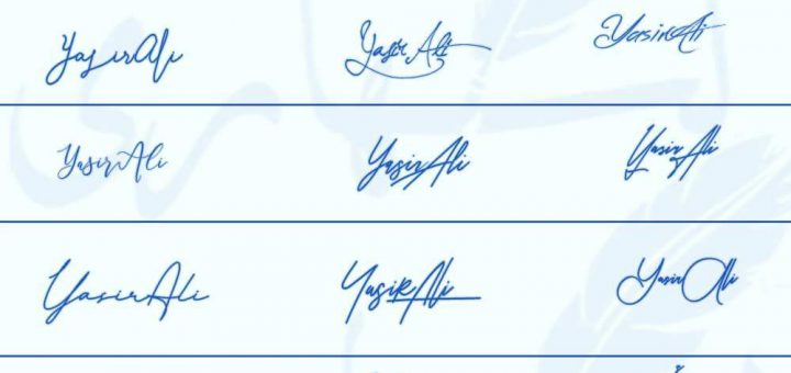Signatures for Yasir Ali