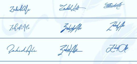 Signatures for Zahid Ali