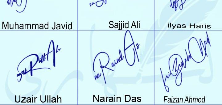 Top 9 Handwritten Name Signature Style