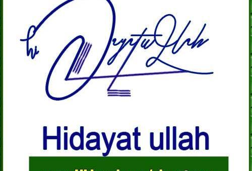 Hidayat ullah Handwritten Signature