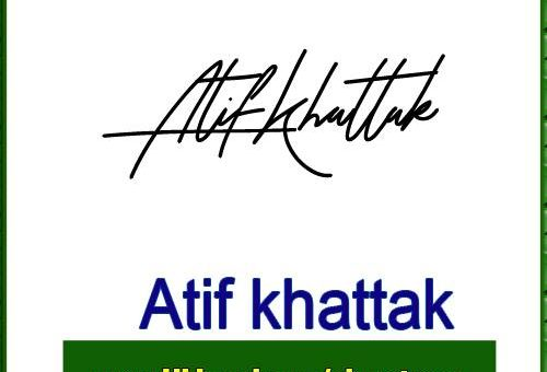 atif khattak Handwritten Signature