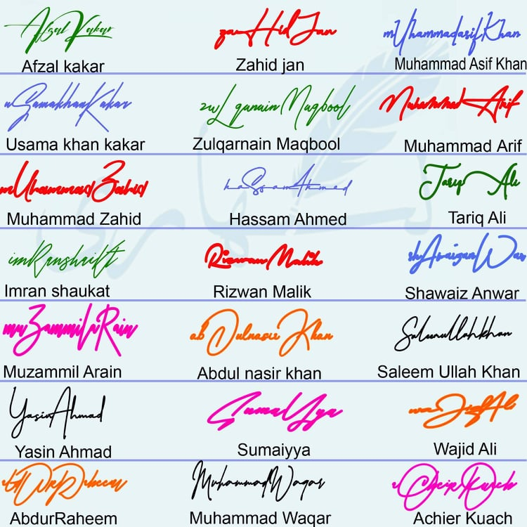 New Handwritten Signature Collection