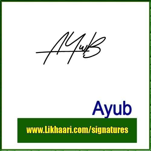 Mohammad Ayub Handwritten Signature