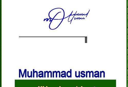 Muhammad usman handwritten signature