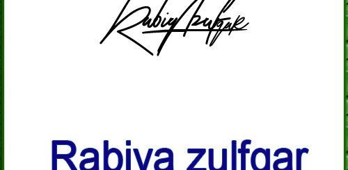 Rabiya zulfqar handwritten signature