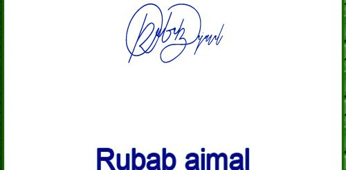 Rubab ajmal handwritten signature