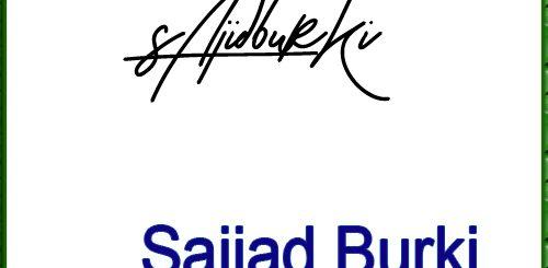 Sajjad Burki Handwritten Signature