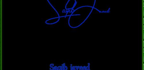 Saqib javeed handwritten signature