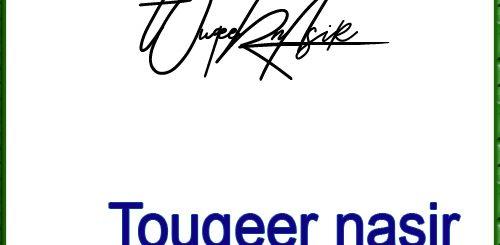TOUQEER nasir handwritten signature