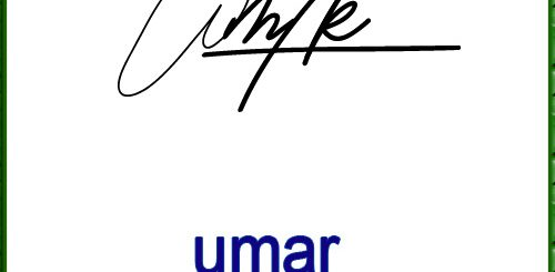 umar 1 handwritten signature