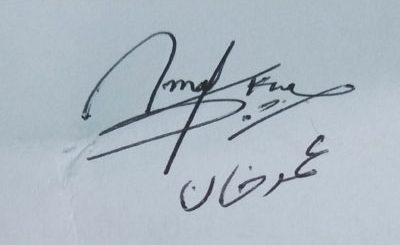 Umer-Khan Handwritten Signature