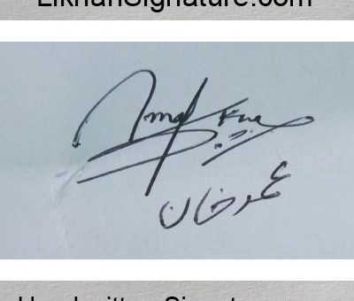 Umer-Khan Handwritten Signature