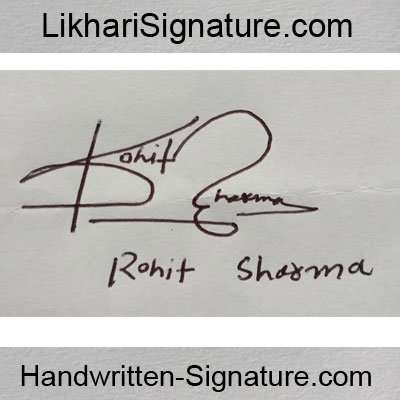 rohit-sharma Handwritten Signature