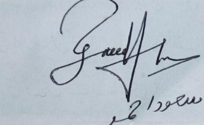 saeed-ahmed Handwritten Signature