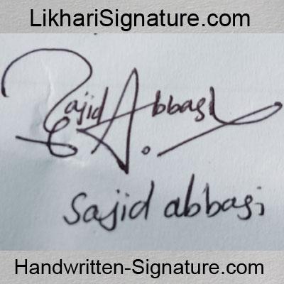 sajid-abbasi Handwritten Signature