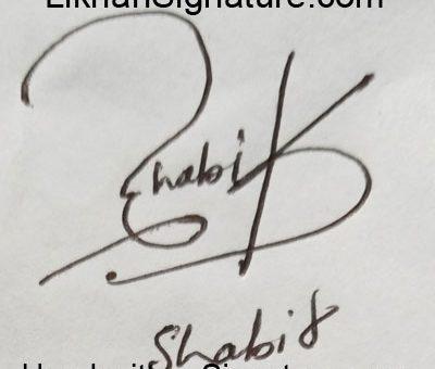 shabir Handwritten Signature