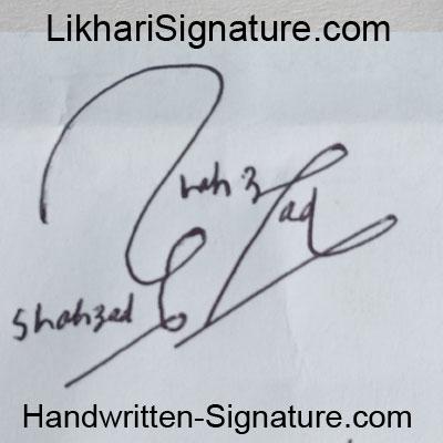 shahzad Handwritten Signature
