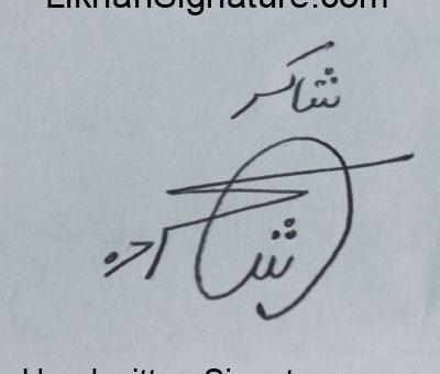 shakir Handwritten Signature