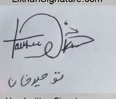 toheed-khan Handwritten Signature