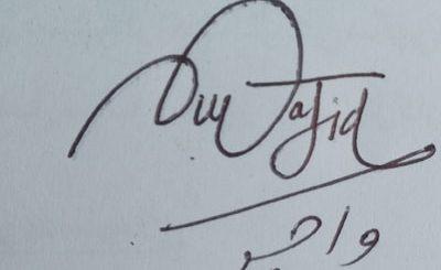 wajid Handwritten Signature