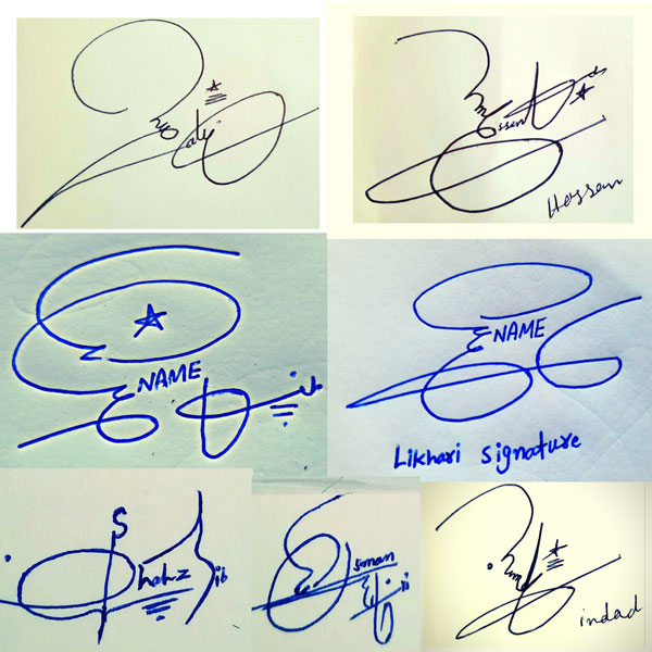 Signature Style of My Name