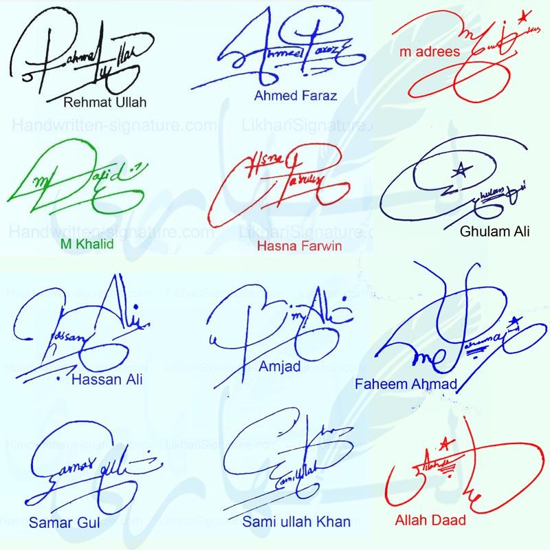 Handwritten Signature Styles