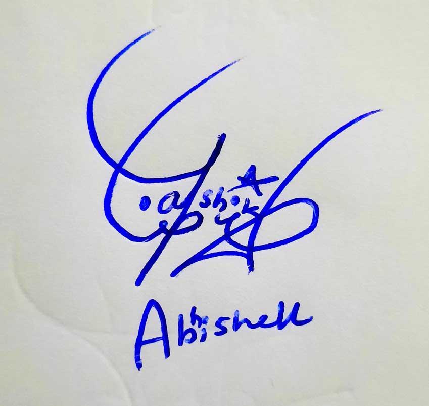 Abhishek Name Signature Style
