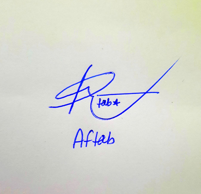 Aftab Name Online Signature Styles