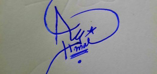 Ahmad Name Signature Style