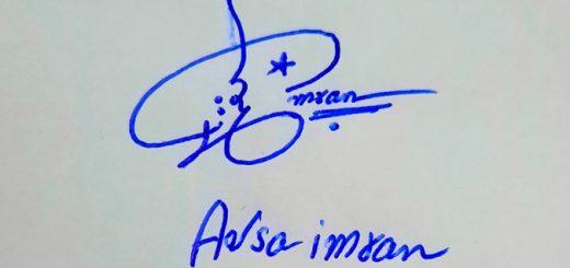 Aqsa Imran Name Online Signature Styles