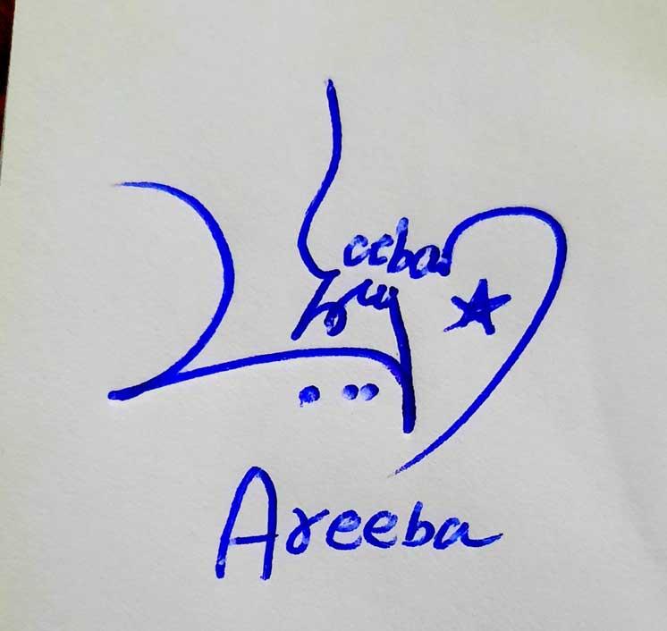 Areeba Name Signature Style