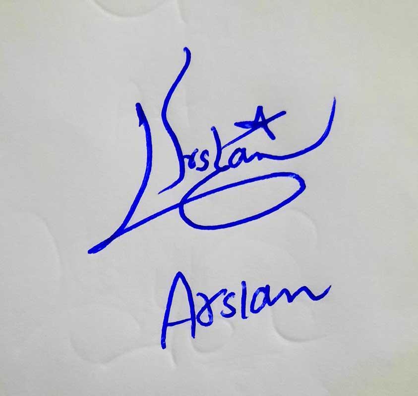 Arslan Name Signature Style