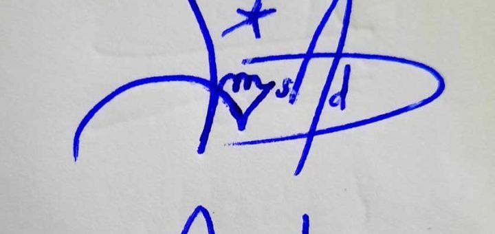 Asad Name Signature Style