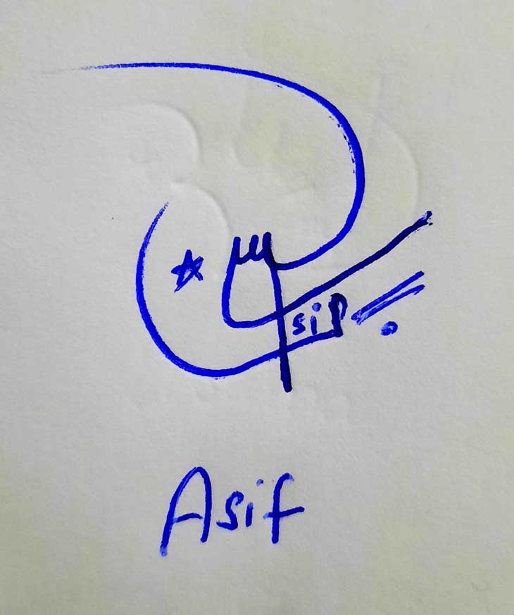 Asif Name Signature Style
