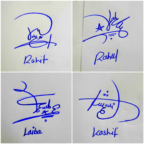 Easy Signatures For My Name
