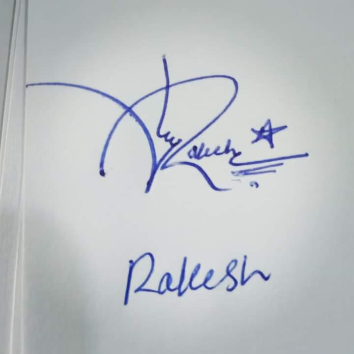 Rakesh Name Signature Style