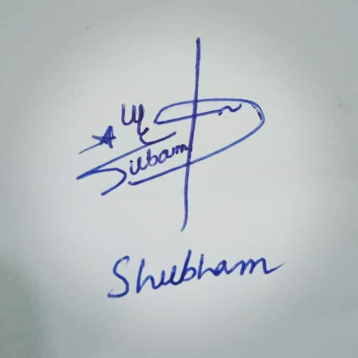 Shubham Name Signature Style