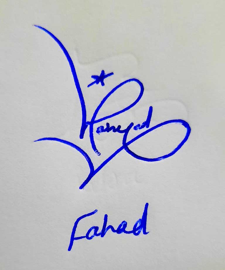 Fahad Name Signature Style