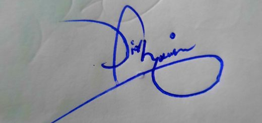 Faqir Hussain Name Signature Style